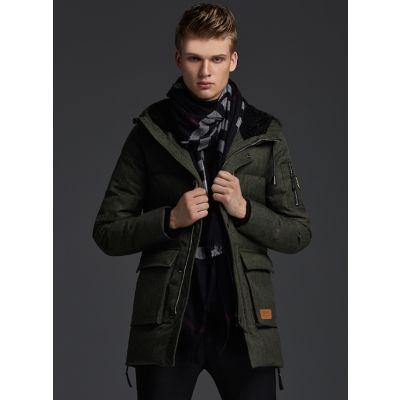 Winter Parka Coat for men goose down with side pockets