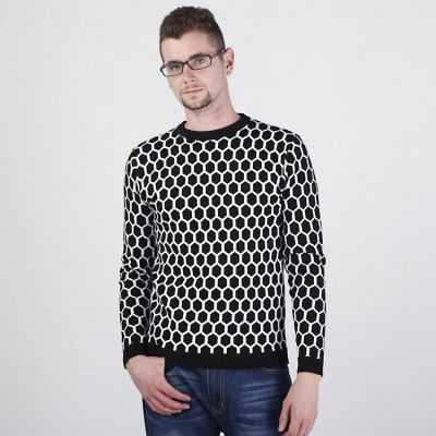 Large Snowflakes Pattern Jumper for Men Retro Winter Fashion