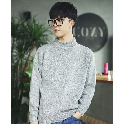 Small Turtleneck jumper for men fine knitted knitwear