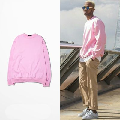 Pink Crewneck Pullover for Men