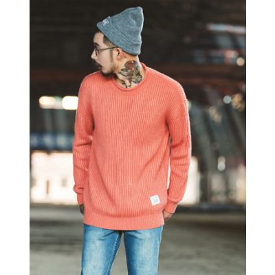Oversize large knit jumper for men