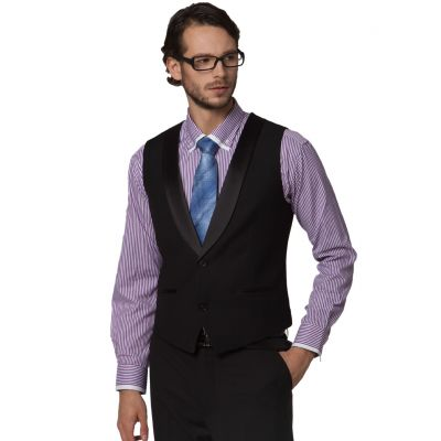 Waistcoat for men with Satin Collar Border