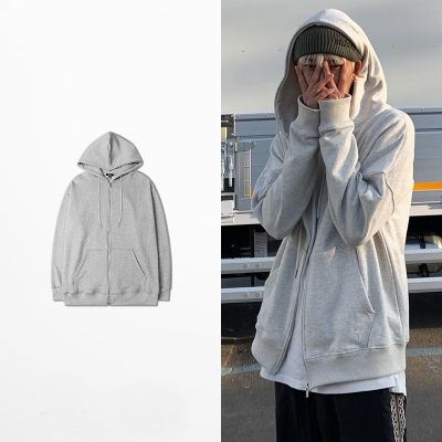 Relaxed fit zip up hoodie unisex