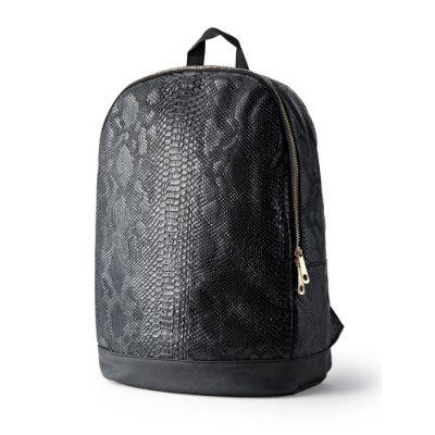 Python Snakeskin Backpack Black Red White