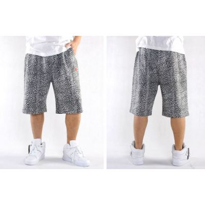 Cotton Shorts for Men with Elephant Skin Design Print
