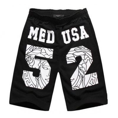 Medusa 52 Swag Basketball Cotton Shorts with Medallion Background