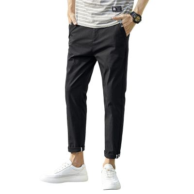 Smart slim chino trousers for men