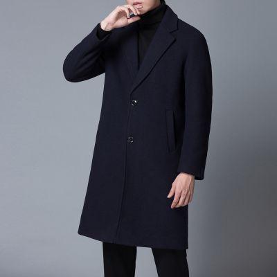 Smart wool coat for men