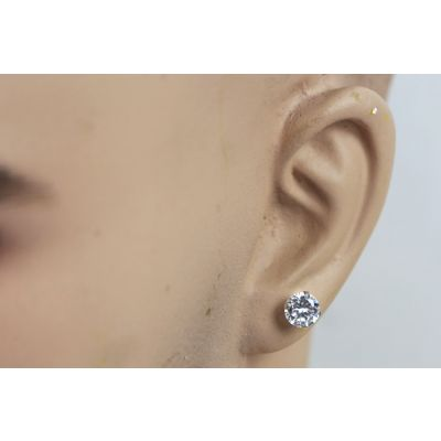Round Stud Diamond Earrings for Men Hip Hop Style Jewelry