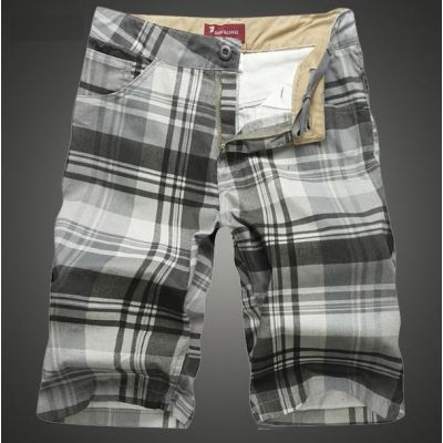 Slim fit Summer Bermuda Shorts for Men with Plaid print