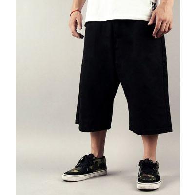 Baggy Shorts for Men Denim Jeans Bermuda Streetwear - Black