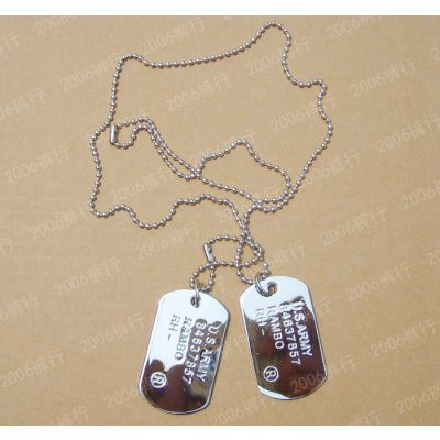 Army Dog tags Necklace for Men with Engraving Jewelry