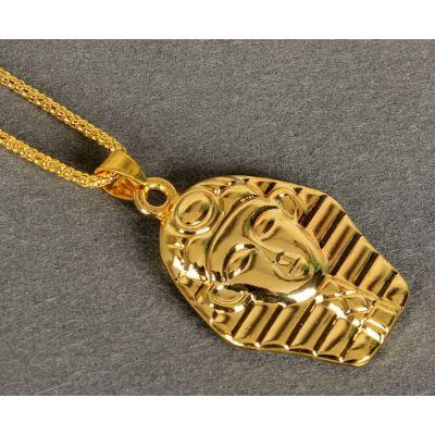 Bling Bling pendant Egyptian Pharaoh Gold Plated Hip Hop Jewelry