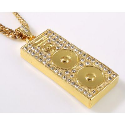 Bling Bling Pendant Chain Sound System Speaker Hip Hop Jewelry