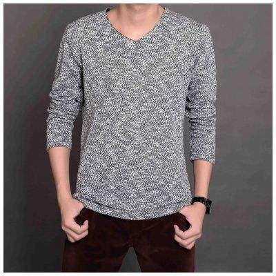 V Neck Sweater for men with loose wool Knit