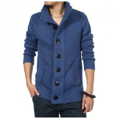 Button Down Vest for Men with Large Buttons and Thick Wool Knit