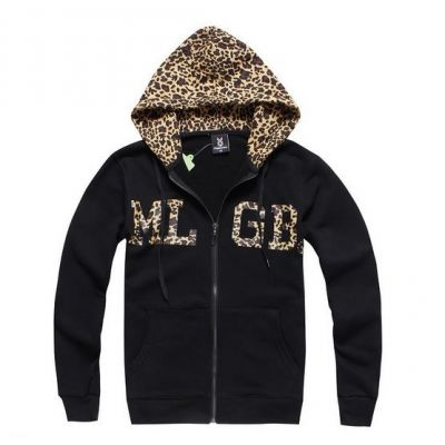 Zip Up Hoodie with Leopard Print Hood and MGLB Animal Swag
