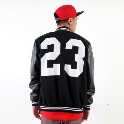 Bomber Jacket Leather Sleeves #23 Jordan Back
