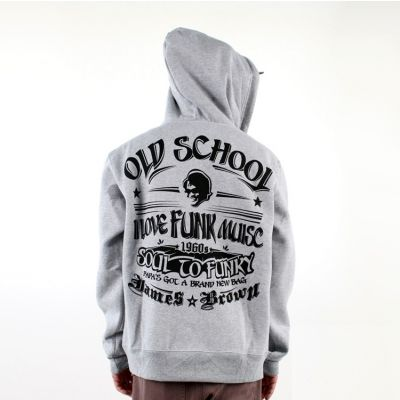 Zip up Hoodie with James Brown Old School Funk Back Design