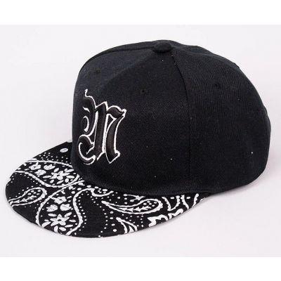 West Side Style Snapback Cap with Paisley Bandana Print Visor