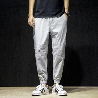 Sweatpants with elasticized drawstring waist for men