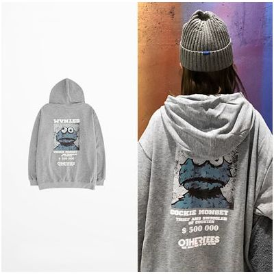 Cookie Monster Hoodie Sweatshirt with $200K Print for Men Women