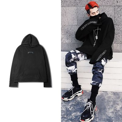 Oversize hoodie sweatshirt for men or women with back straps