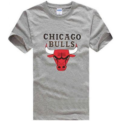 Chicago Bulls T shirt for Men Short Sleeves NBA Print