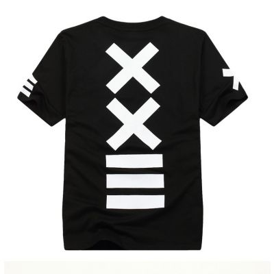 XXII Hip Hop Black and White Tee Shirt with White Cross Swag
