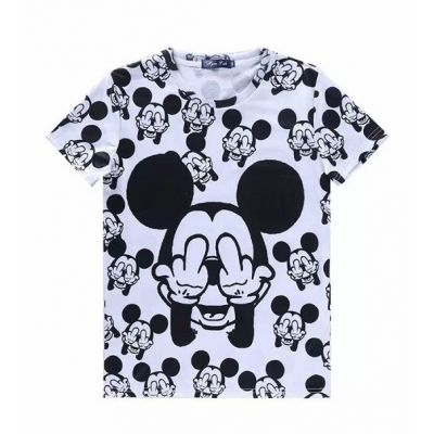 All Over Mickey Mouse Middle Finger Up T shirt Sublimation Print