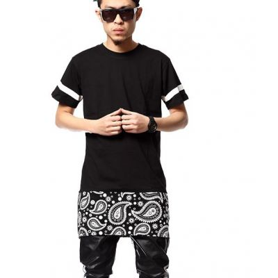 Oversize Bandana Extension T shirt Hip Hop Swag West Coast