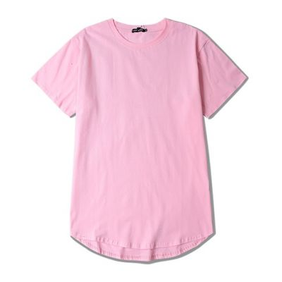 Long Oversize T shirt for Men with Rounded Bottom Solid Color