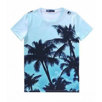 Palm Trees Photo Print T shirt for Men Sublimation 3D