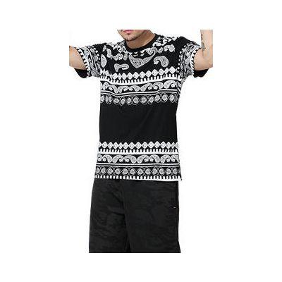 Paisley Bandana Stripes Swag T-shirt for Men