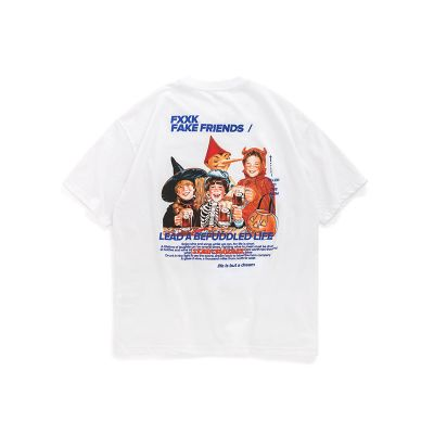 T-shirt short sleeve cartoon printed for men.