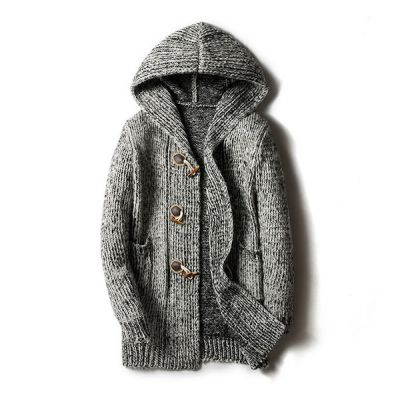Winter duffle hoodie sweater for men knitwear