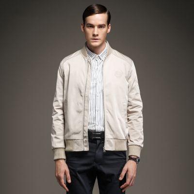 Men's Bomber Jacket with shoulder patch
