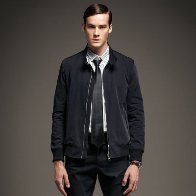 Men's Classic Canvas Jacket with Raised Collar