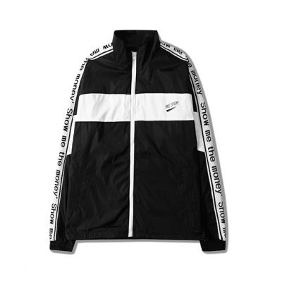 Lightweight Retro Sports Jacket for Men with Sleeve Print