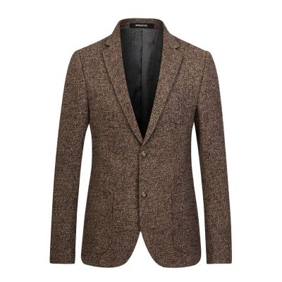 Herringbone knit suit jacket for men winter blazer