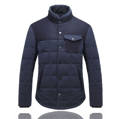 Two tone Padded jacket for men with Chest pocket