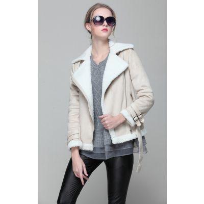 Women's jacket imitation sheepskin retro