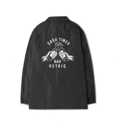 Long Shirt Style Jacket with Good Times Embroidery for Men