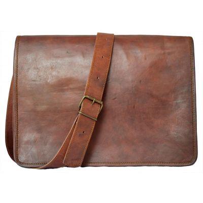 Vintage Fashion Leather Messenger bag for iPad Documents Unisex - Large