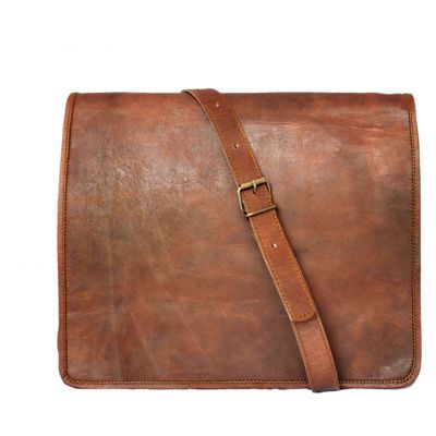 Vintage Fashion Leather Messenger bag for men for iPad Laptop - Small