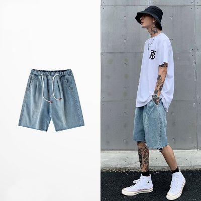 Vintage light blue denim shorts for men