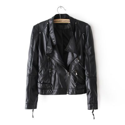 Perfecto Leather Jacket for women with Multiple Pockets