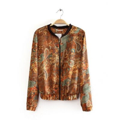 Paisley Jacket for women with Floral Bandana Print