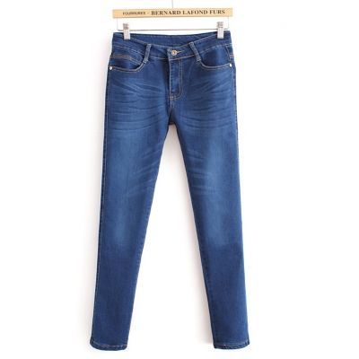 Skinny Jeans for women low waist - Denim blue