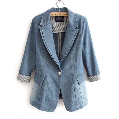 Denim blazer Jacket for women Spring Vest Fashion